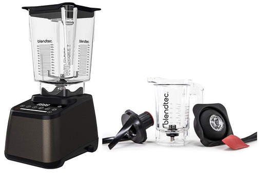 Blendtec Designer 675 Blender w Wildside+ Jar Dark Roast FREE TWISTER JAR