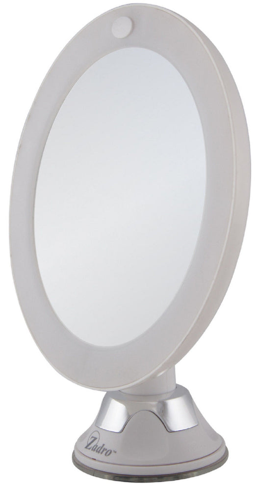 Zadro 10X Magnification Z'Swivel Cordless LED Lighted Suction Makeup Wall Mirror