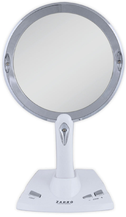 Zadro 1X To 5X Magnification Power Zoom LED Lighted Vanity MakeUp Mirror PZV01