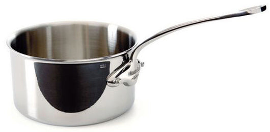 Mauviel M'cook 3.6 Qt Stainless Steel Saucepan with Cast SS Handle 5210.20 NEW