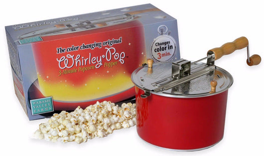 Wabash Valley Farm Whirley Pop 6 Qt Color Changing Stovetop Popcorn Popper Maker