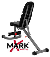 XMark FID Flat Incline Decline Weight Exercise Bench w Preacher Curl XM-4417 NEW