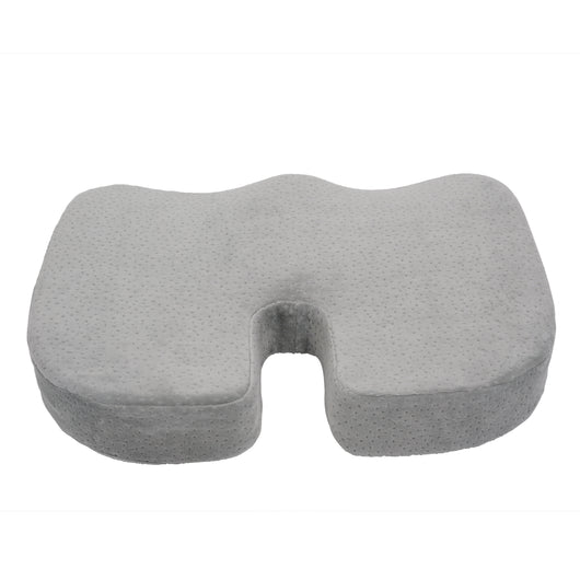 Gray Memory Foam With Cooling Gel Coccyx Seat Cushion