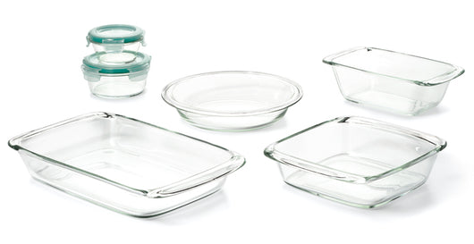 8 Piece Glass Bake, Serve & Store Set