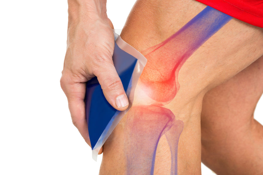 Get pain relief and prevent muscle contraction with Cool Relief ice wraps for knees