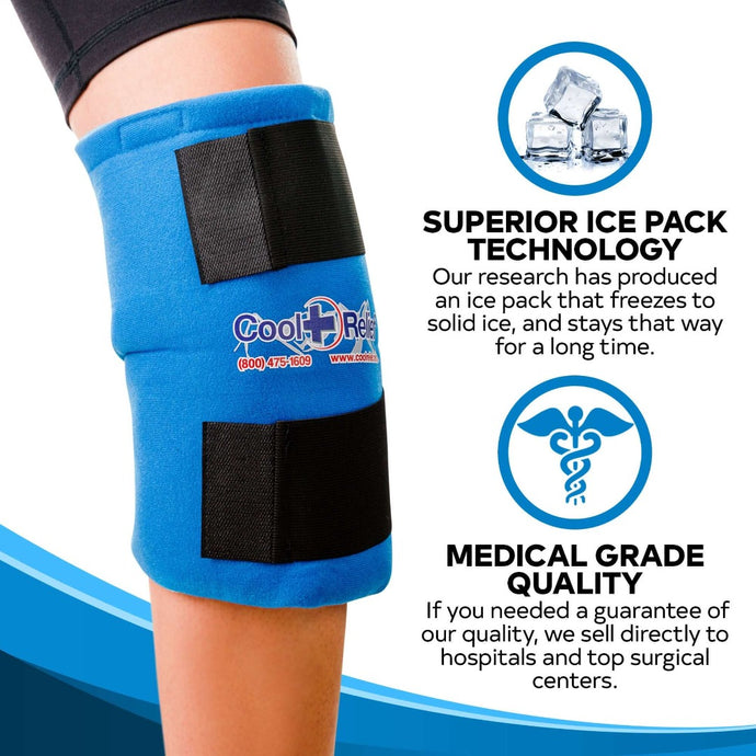 Soft Gel Hot/Cold Pack for Knee - Cool Relief Ice Wraps