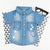 Babylah.com - Star Print Button Up Denim Shirt