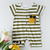 Babylah.com - Premium - Cool Sunglasses Stripe Design Romper