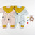 Babylah.com - Sweet Clown Collar Long Sleeves Romper