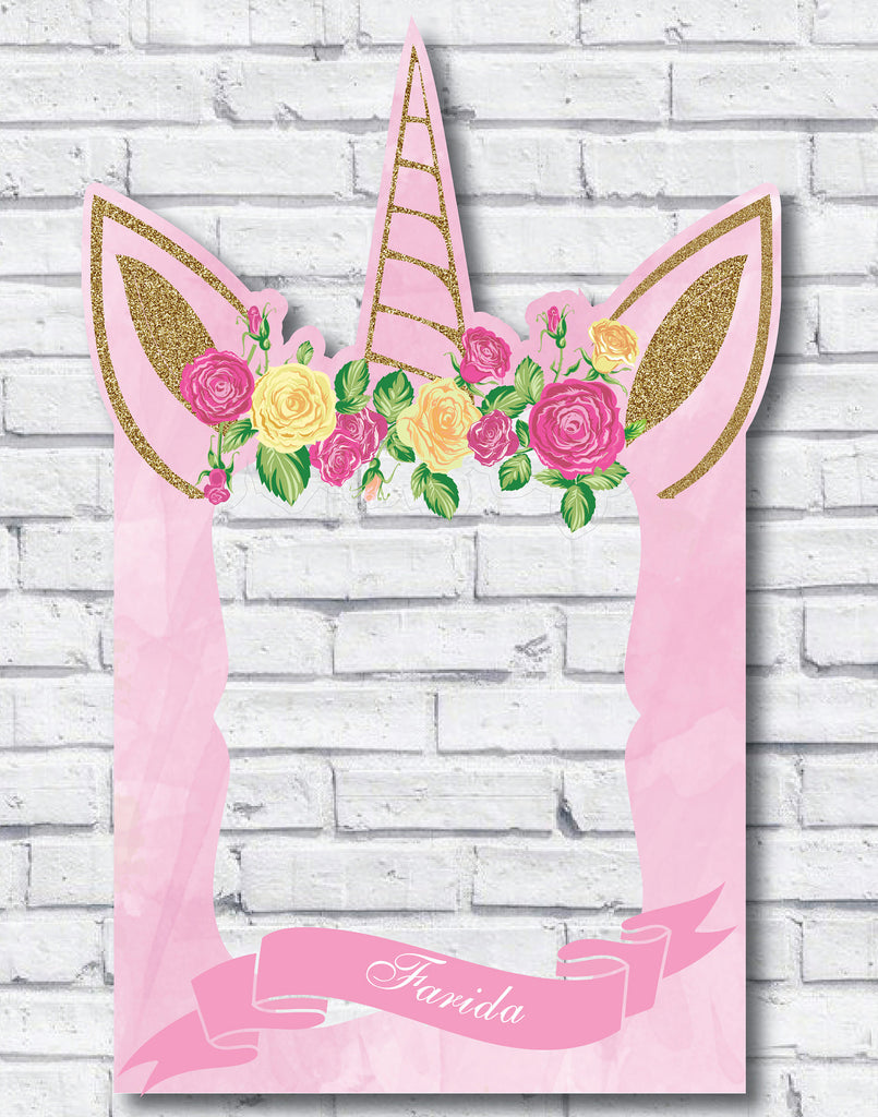 Unicorn Party Photo Booth Frame – Creative Realm
