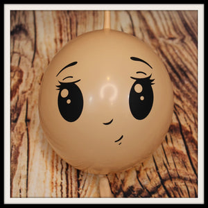 "6"" Girl Face Printed Balloons"