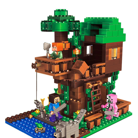Tree House Building Blocks Toy Kit