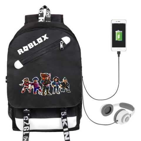 Roblox Backpack with built in phone charger and headphone port