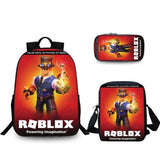 Roblox School Backpack / Bag 3 Piece Set