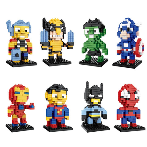 Marvel Avengers Super Hero Smart Particles Blocks (Compatible w/ Minecraft)