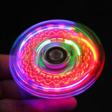 Creative LED Light Luminous Fidget Spinner Transparent Pattern Changes Hand Spinner Golw in the Dark Stress Relief Toys For Kids