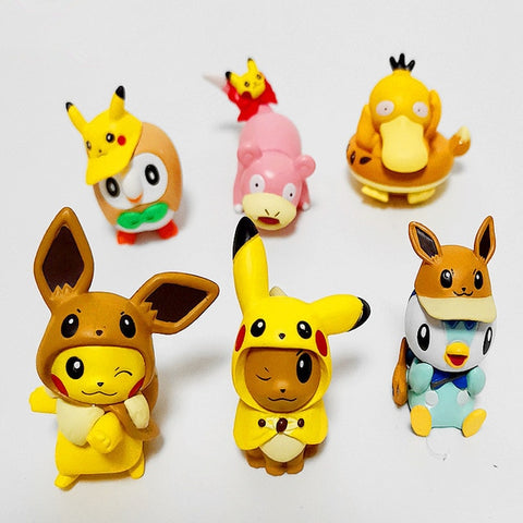 6 Piece Pokemon Figurine Set