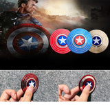 New Round American Captain Fingertip Gyro Shield Alloy Gyro Spinner Decompression Toy Fidget Spinner Hobbies for Adults