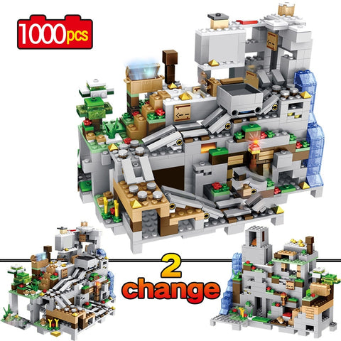Minecraft Mountain Cave Building Block Set