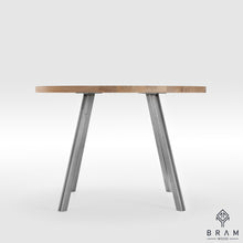 Round Dining Table With Industrial Design Legs