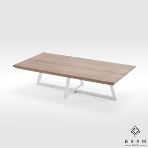 Unique Coffee Table With Angled Steel Legs