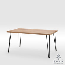 Real Oak Dining Table With Hairpin Style Legs