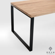 Strong Dining Table Made Of Oak And Steel