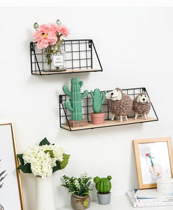 Wooden Iron Wall Shelf By A Kawaii World