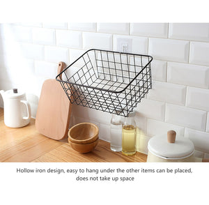 Multifunctional Hollow Iron Storage Basket By A Kawaii World