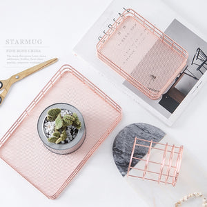 Simplicity Rose Gold Metal Iron Storage By A Kawaii World