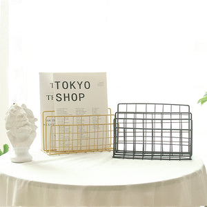 Grid Wrought Iron Storage Rack