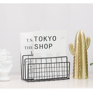 Grid Wrought Iron Storage Rack By A Kawaii World
