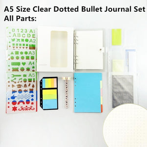 Dotted Bullet Journal Set Notebook Diary