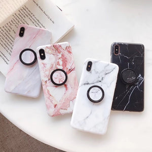 Marble PopSocket iPhone Case By A Kawaii World
