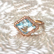 Mischa Aquamarine and Diamond Ring