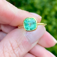 Cushion Cut Green Tourmaline Blake Ring