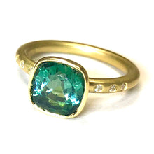 Carmen Cushion Green Tourmaline Ring