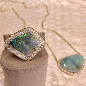 Sophie Kite Shaped Opal Ring