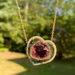 Watermelon Heart Layla Necklace
