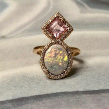 Betty Opal & Pink Tourmaline Ring