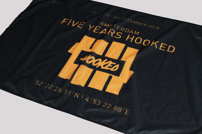 hooked 5 years flag