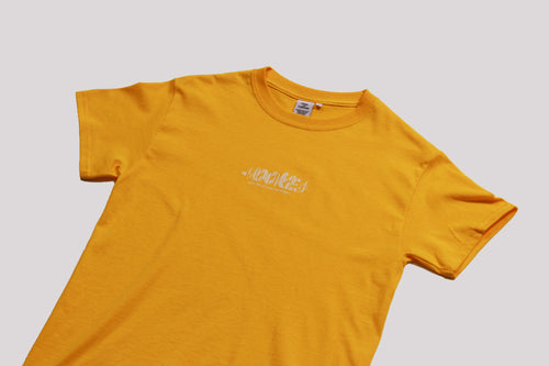 barcode tee yellow gold