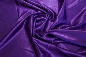 Purple Crepe Back Satin - WHOLESALE FABRIC - 15 Yard Bolt