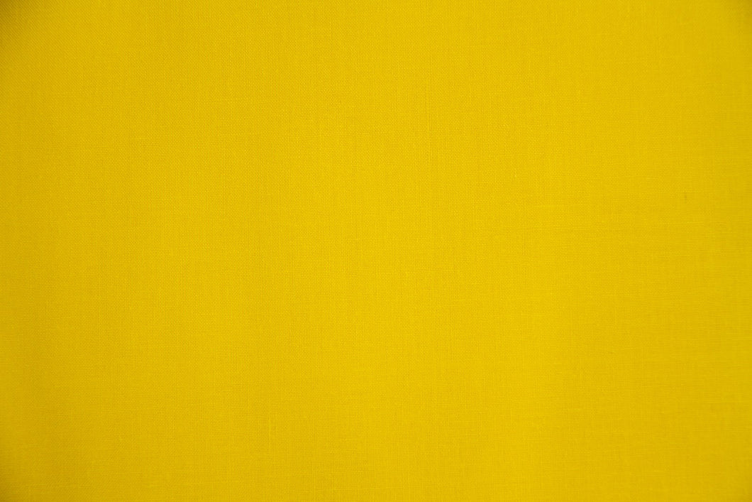 Yellow 100% Cotton Harvest Broadcloth - WHOLESALE FABRIC - 20 Yard Bolt