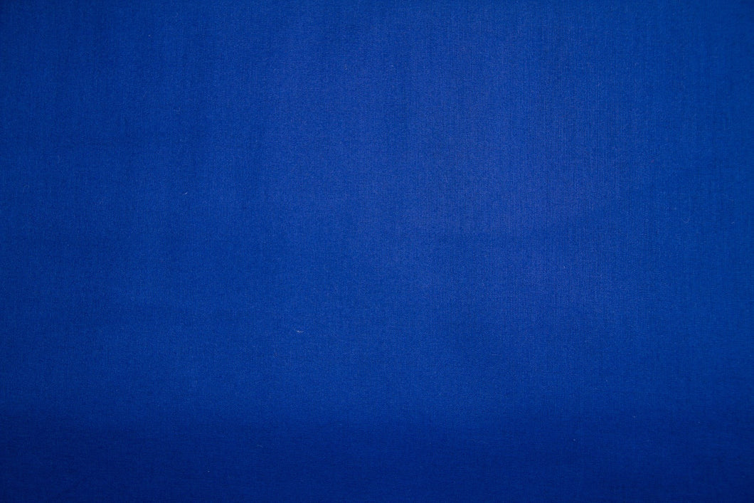 Royal Blue 100% Cotton Harvest Broadcloth - WHOLESALE FABRIC - 20 Yard Bolt