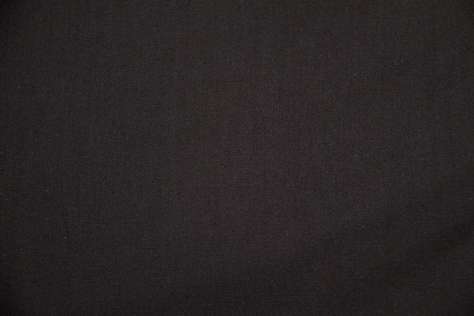 Black 100% Cotton Carolina Broadcloth - By the Yard