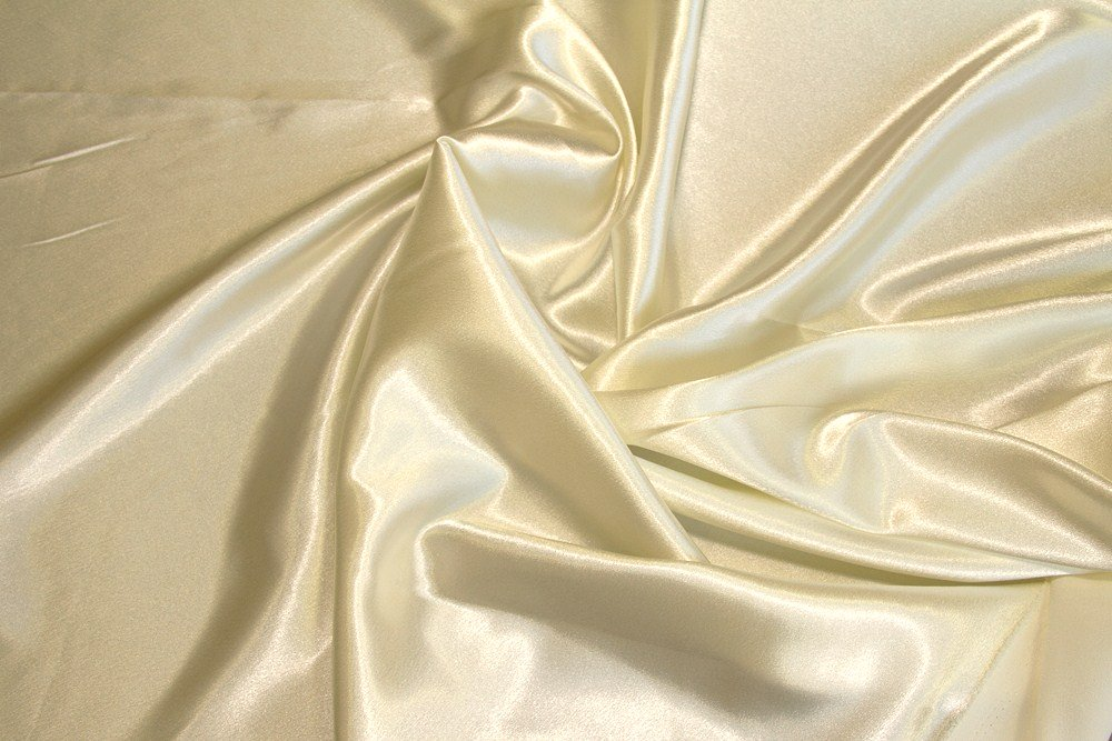 Ivory Crepe Back Satin - WHOLESALE FABRIC - 15 Yard Bolt