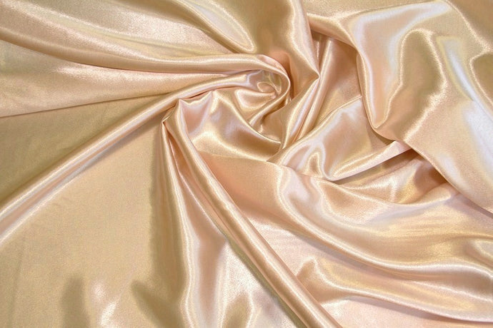 Champagne Crepe Back Satin Fabric