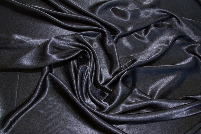 Black Crepe Back Satin - WHOLESALE FABRIC - 15 Yard Bolt