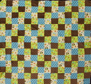 Bright Owl Patchwork Flannel Children's Quilt Top Fabric - 8 Yard Bolt